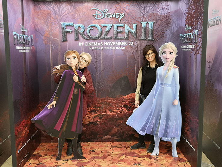 Frozen characters on display