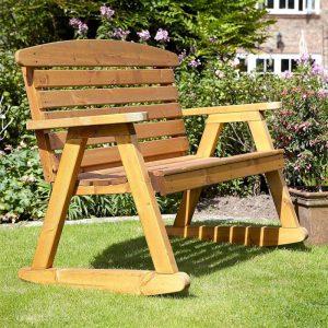 Wooden rocking bench