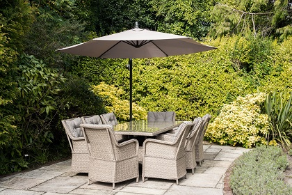 belize furniture set on patio