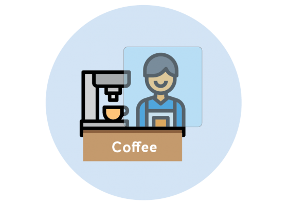 coffee barista counter