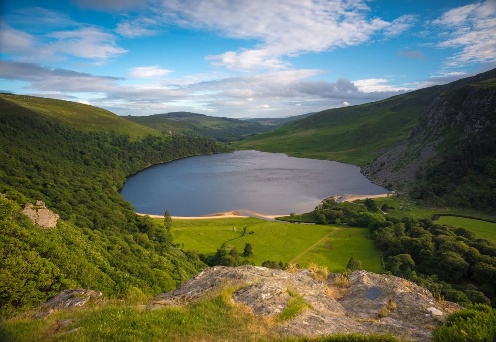 Lough Tay in County Wicklow