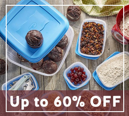 up to 60% off food storage