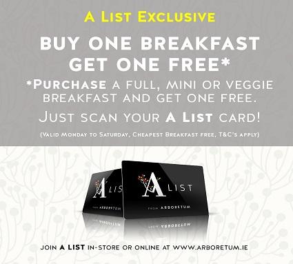 Buy One Get One Free Breakfast