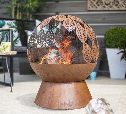 Leaves Globe Firepit